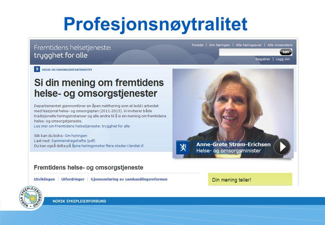 Samhandlingsreformens sykepleierolle Kristin Heggen, UiO selvstendig (mer ensom, mindre pleiefellesskap), ytterst ansvarsfull og kompetansekrevende og samhandlende med andre profesjoner
