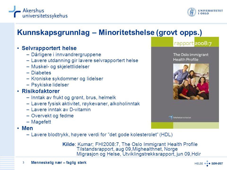 Menneskelig nær – faglig sterk 4 Psykiske lidelser blant innvandrere/flyktninger/asylsøkere Høyere forekomst av psykiske plager (depresjon, angst) Økende bruk av rusmidler Migrasjon Traumatiserte foreldre/Traumatiserte barn Vold i nære relasjoner Seksuell overgrep Asylsøkere i mottak Enslige mindreårige asylsøkere/flyktninger Lavere bruk av behandlingsapparatet Mindre kunnskap om behandlingsapparatet Usikkerhet ift behandlingsmetoder Behov for mer kunnskap/forskning