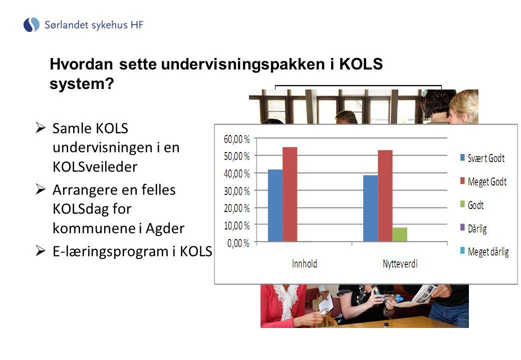 Hvordan sette undervisningspakken i KOLS system.