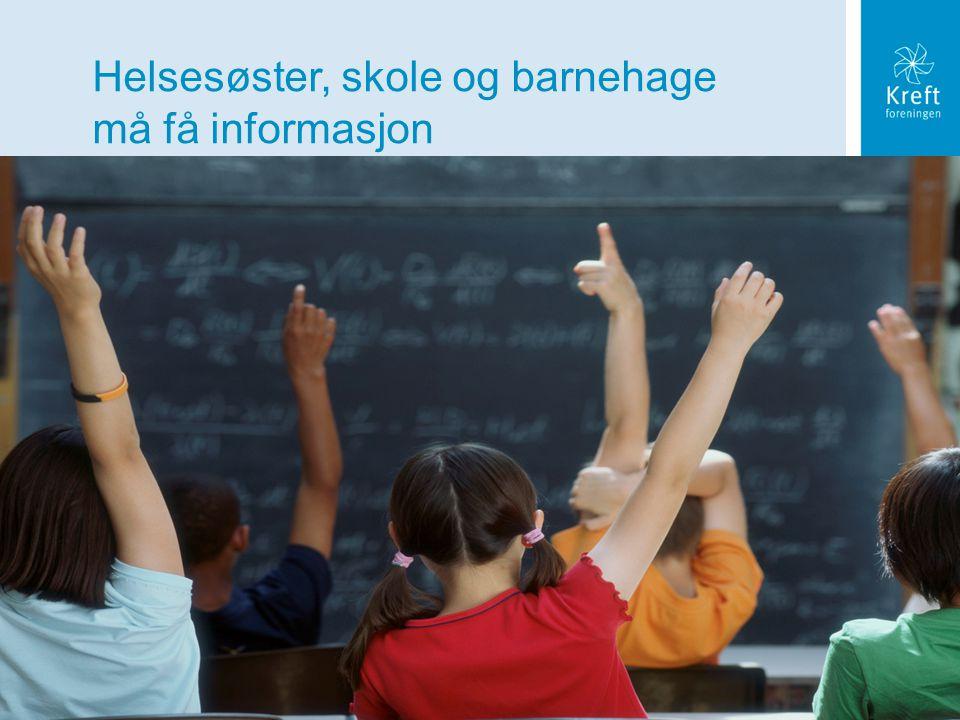 Barn og ungdom som pårørende 2010 5.4.3.0.4 BUSP forelesning, 08 02 08 Helsesøster, skole og barnehage må få informasjon