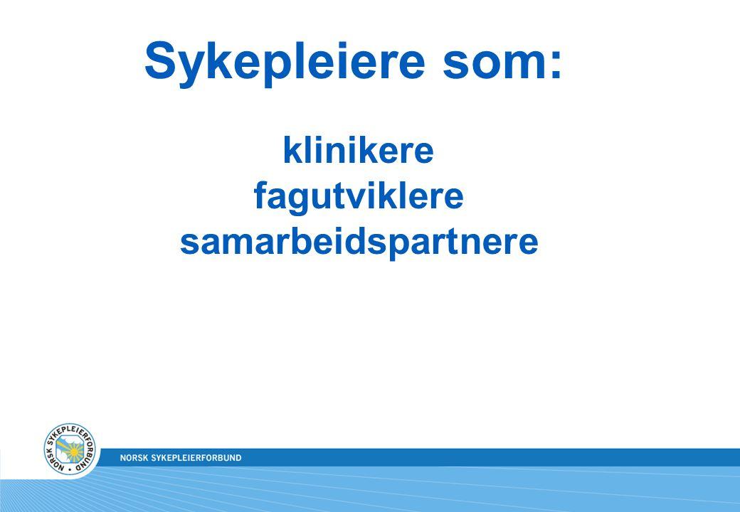 Sykepleiere som: klinikere fagutviklere samarbeidspartnere