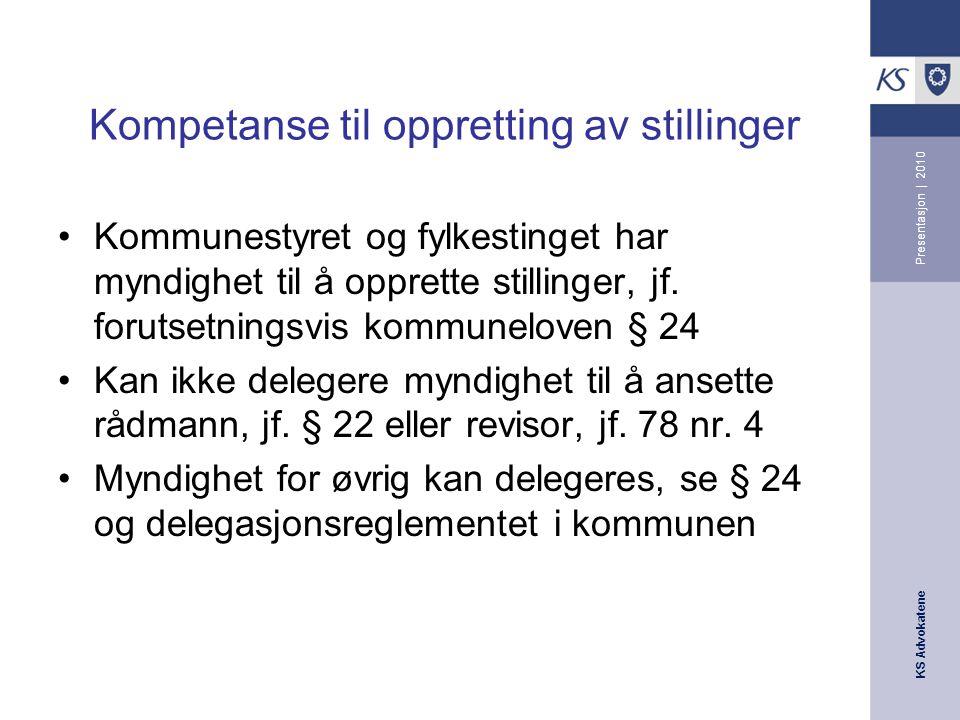 KS Advokatene Presentasjon | 2010 Arbeidsgivers styringsrett Nøkk-dommen (Rt.