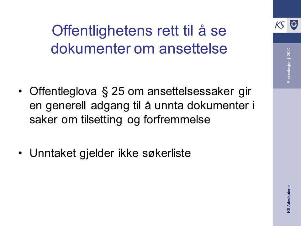 KS Advokatene Presentasjon | 2010 Felles for de ulike diskrimineringslovene Opplysningsplikt aml.