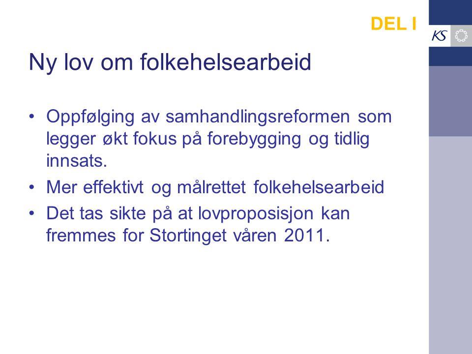 Samhandlingsreformens hovedelementer OppgaverFinansiering Lov- og avtaleverk Kommune-rollen DEL II.