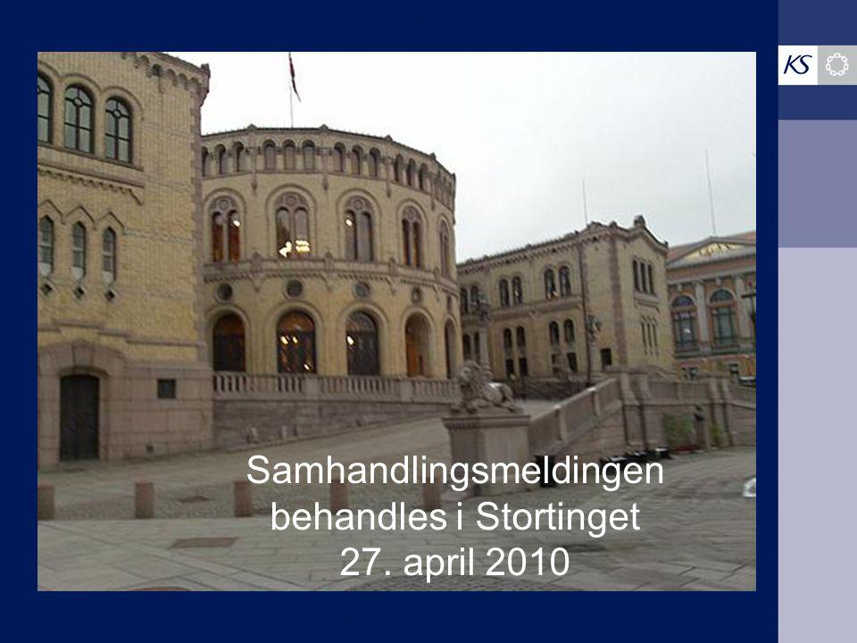 Samhandlingsmeldingen behandles i Stortinget 27. april 2010