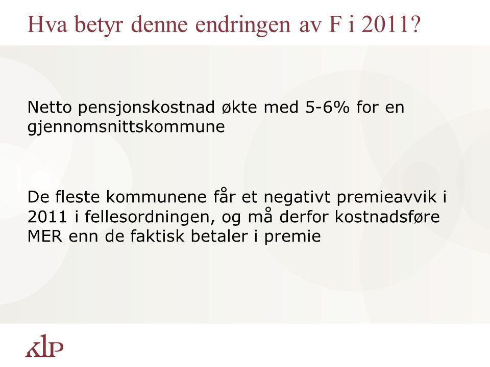 Hva betyr denne endringen av F i 2011.