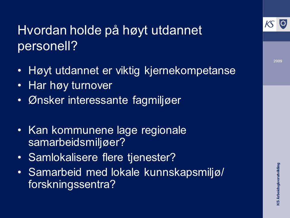 KS Arbeidsgiverutvikling 2009 Hvordan holde på høyt utdannet personell.