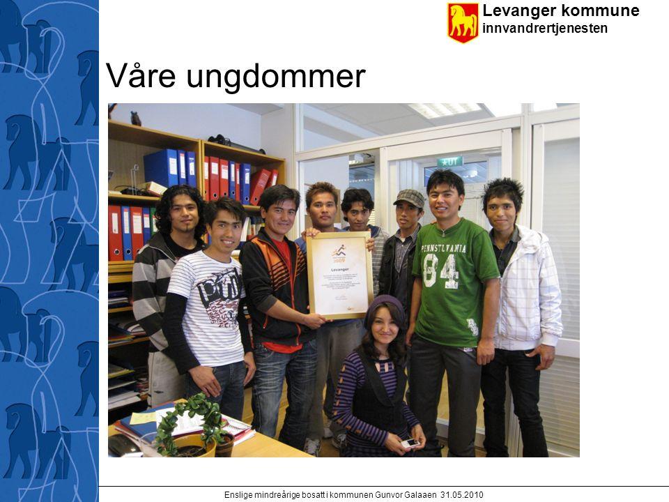 Levanger kommune innvandrertjenesten Enslige mindreårige bosatt i kommunen Gunvor Galaaen 31.05.2010 Våre ungdommer