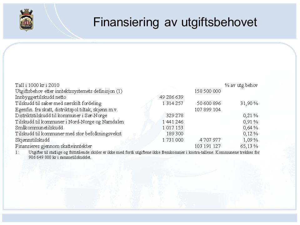 Finansiering av utgiftsbehovet