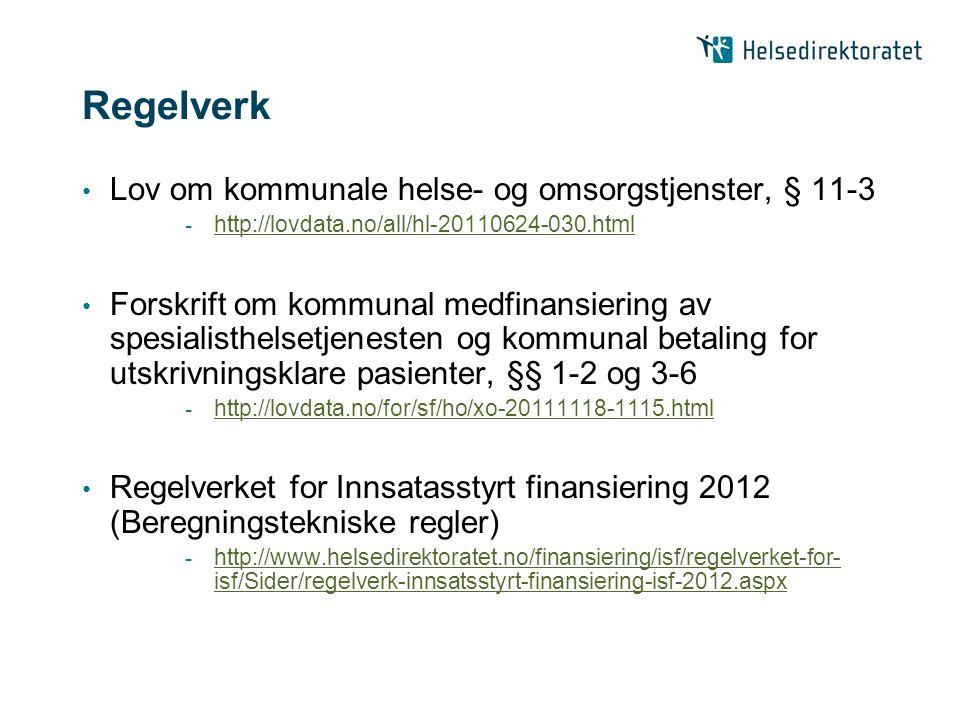 Regelverk Lov om kommunale helse- og omsorgstjenster, § 11-3 - http://lovdata.no/all/hl-20110624-030.html http://lovdata.no/all/hl-20110624-030.html F