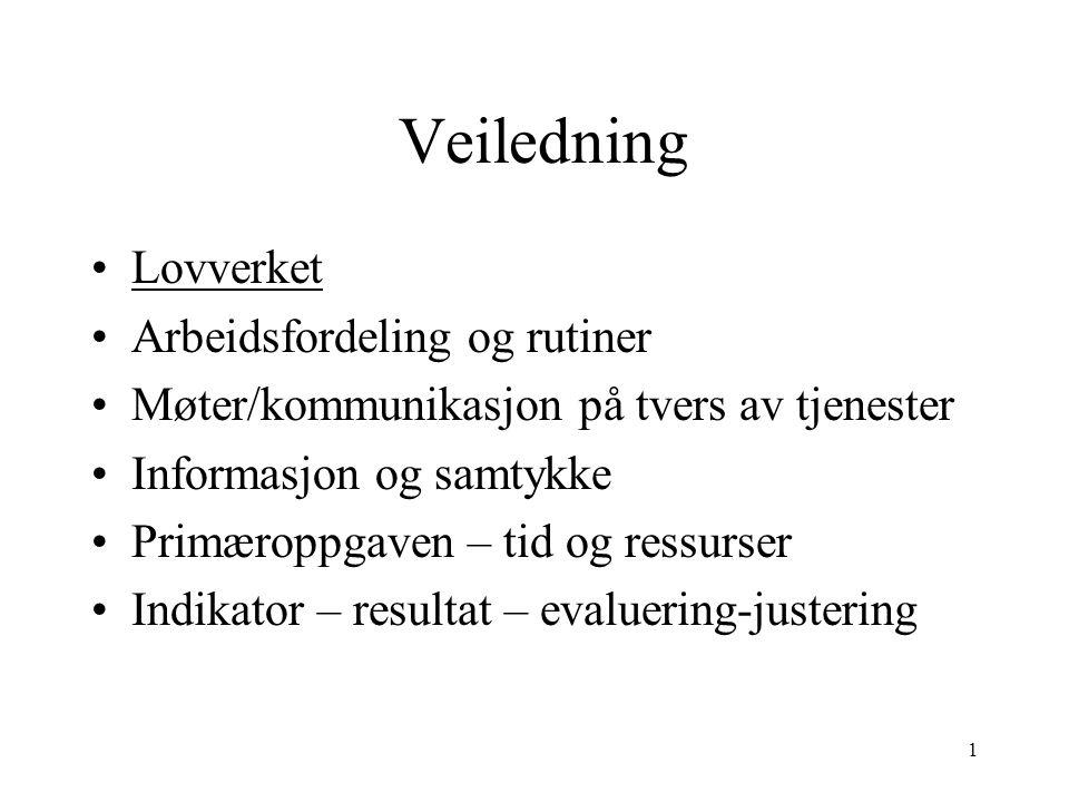 Veiledning Veileders kompetanse : Har kjennskap til veiledningsmetodikk – teoretisk kunnskap og praktisk erfaring.