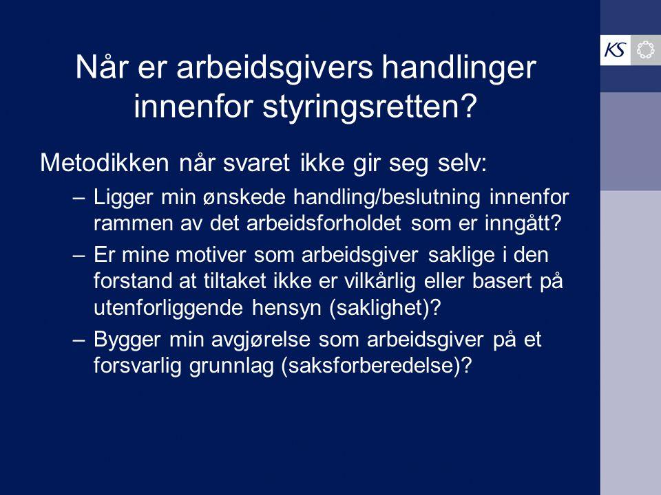 """Eksempel: Høyesteretts dom inntatt i Rt- 2009-1465 """"Vi har gleden av å kunne tilby deg en fast 80% stilling med turnus 2 hver helg i Bergenhus bydel p"""