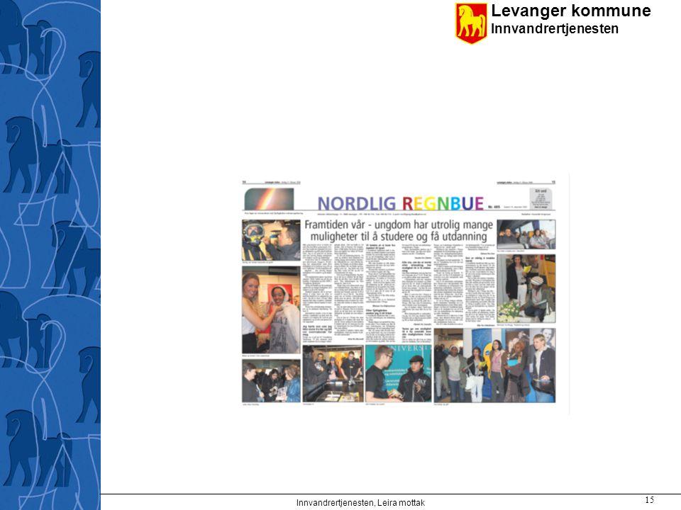 Levanger kommune Innvandrertjenesten Innvandrertjenesten, Leira mottak 15