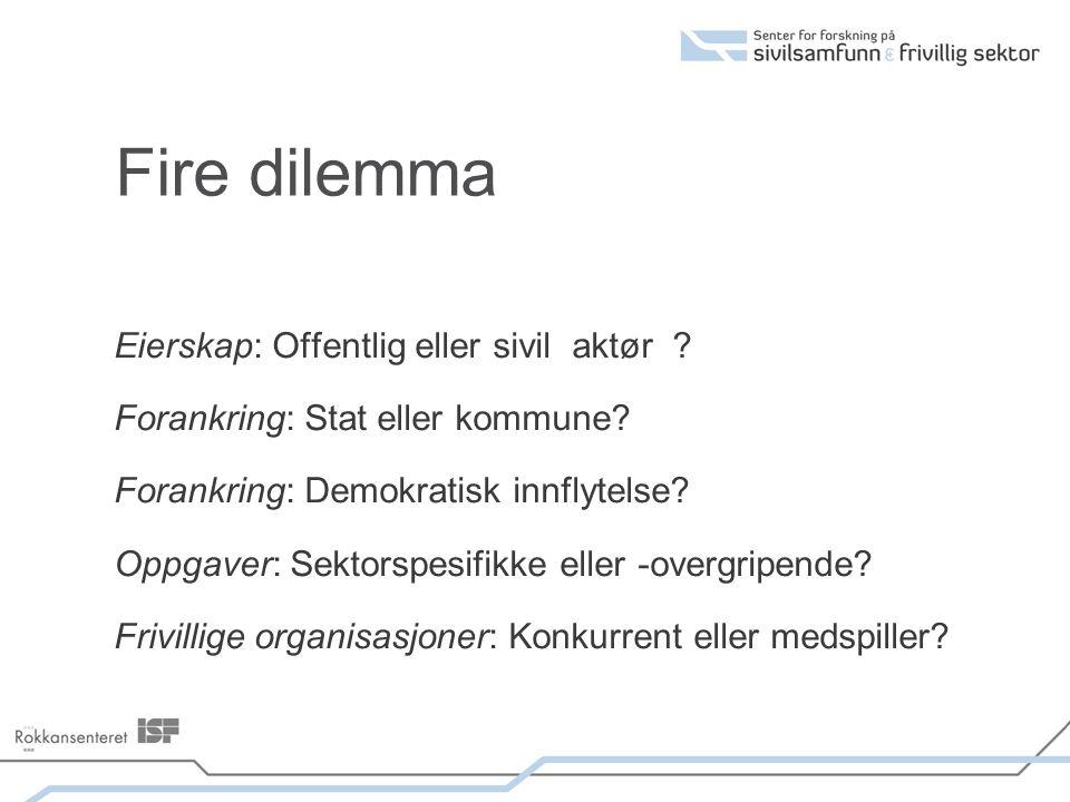 Fire dilemma Eierskap: Offentlig eller sivil aktør .