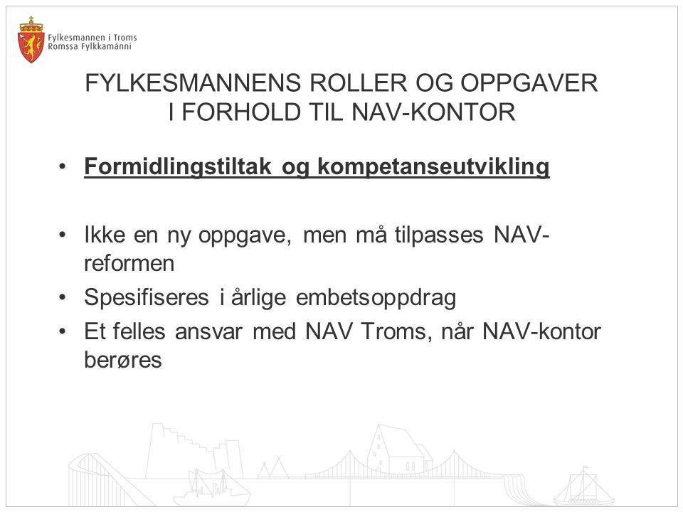 FYLKESMANNENS ROLLER OG OPPGAVER I FORHOLD TIL NAV-KONTOR Formidlingstiltak og kompetanseutvikling – forts.
