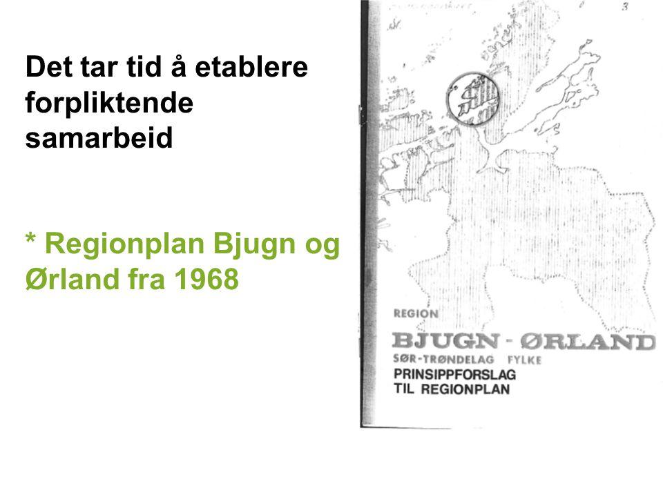 Det tar tid å etablere forpliktende samarbeid * Regionplan Bjugn og Ørland fra 1968