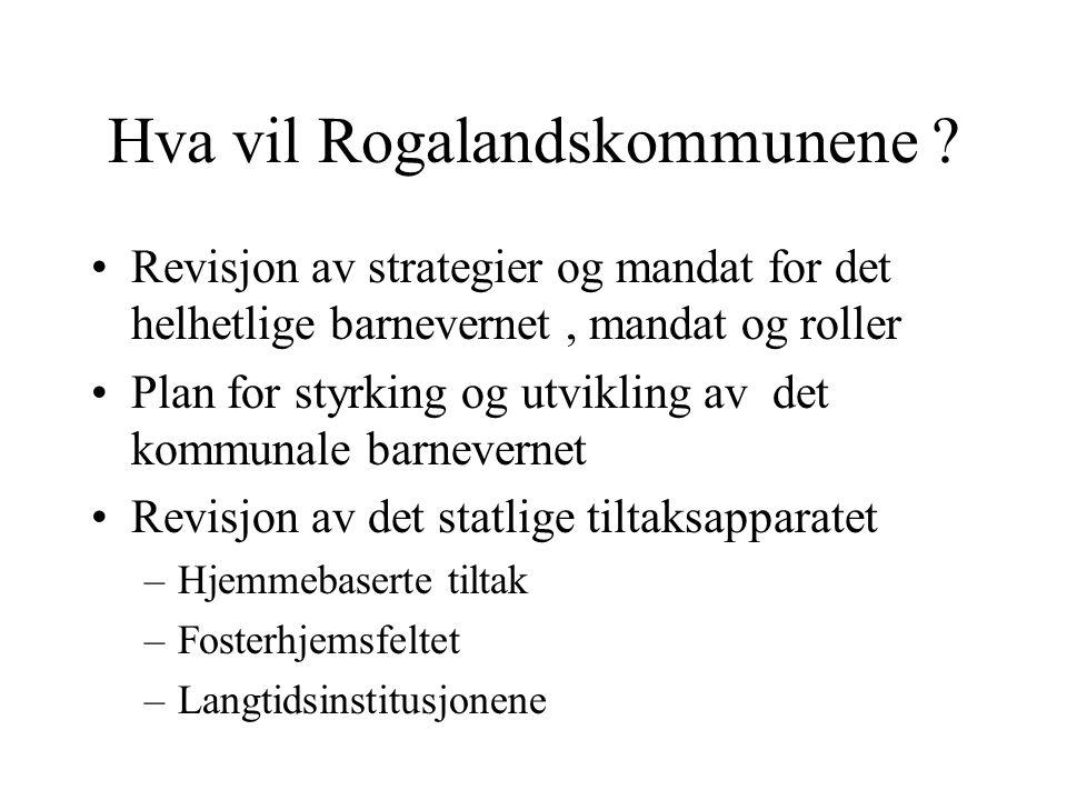 Hva vil Rogalandskommunene .