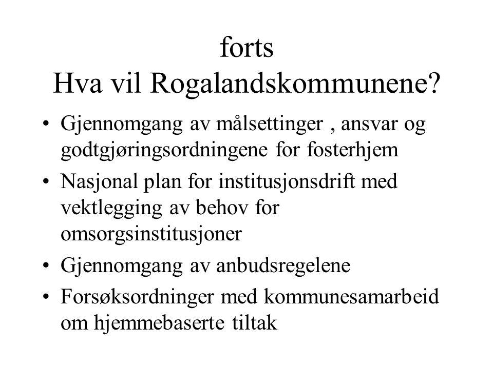 forts Hva vil Rogalandskommunene.