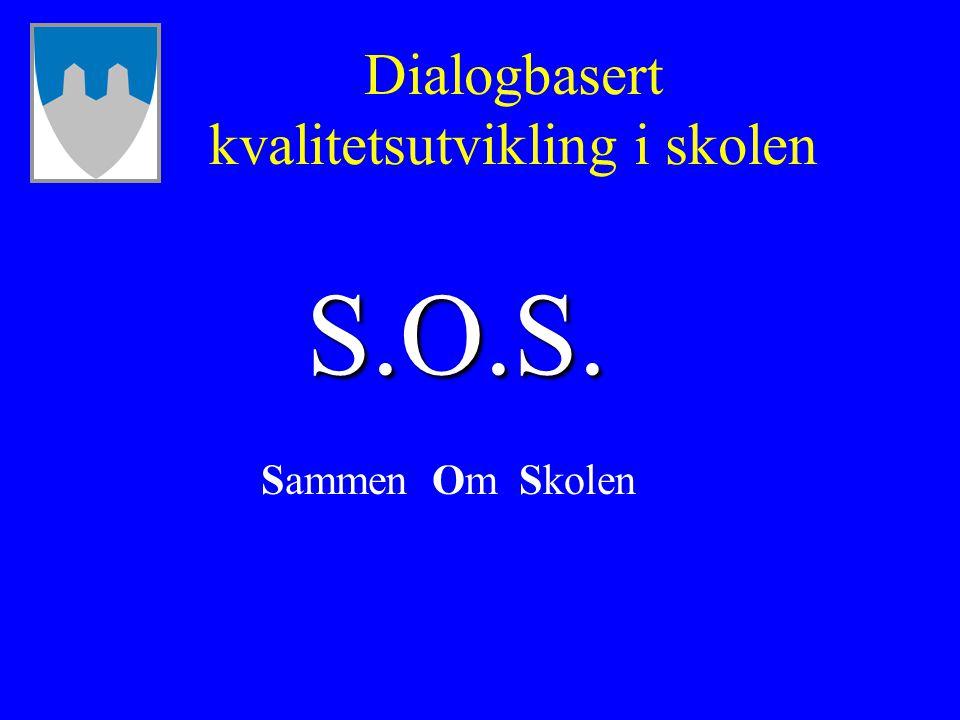 Dialogbasert kvalitetsutvikling i skolen Sammen Om Skolen S.O.S.