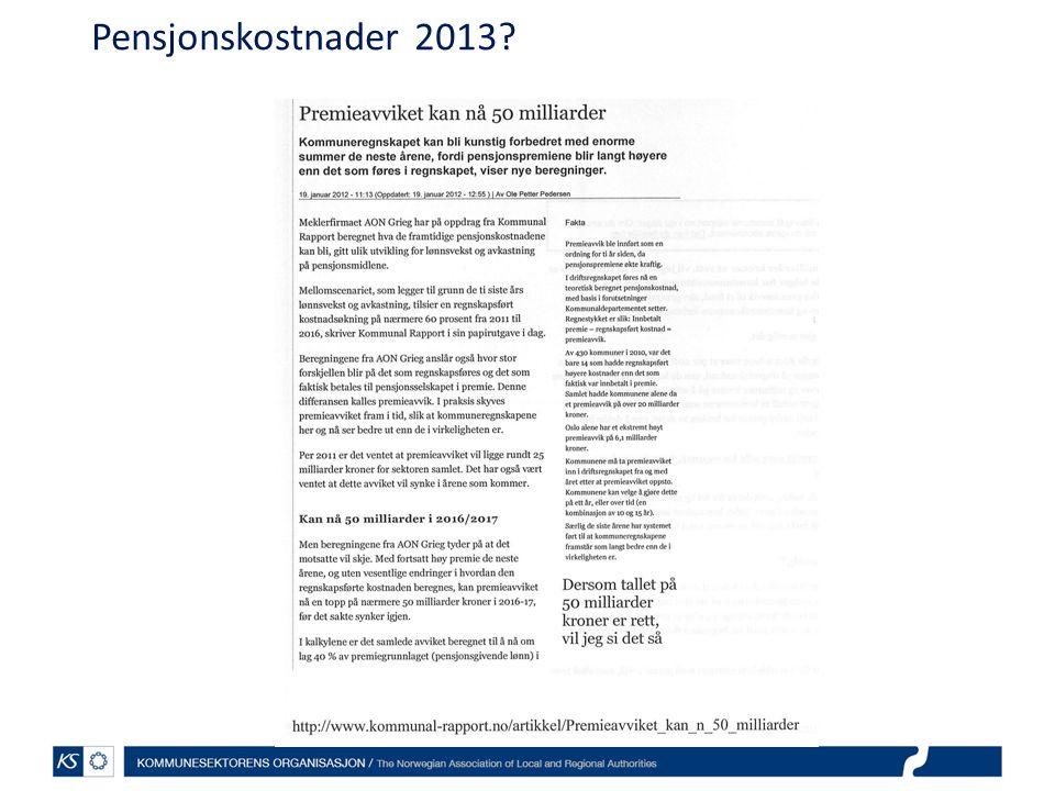 Pensjonskostnader 2013?