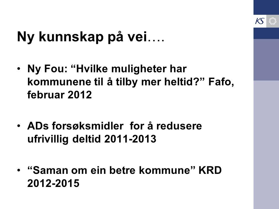 Ny kunnskap på vei….