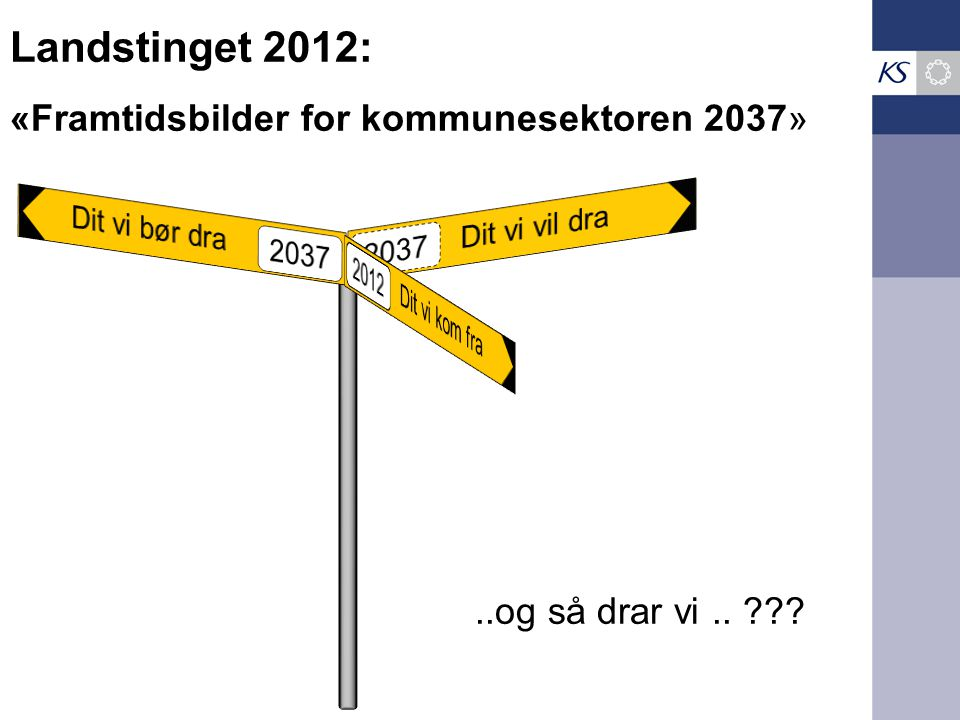 Landstinget 2012: «Framtidsbilder for kommunesektoren 2037»..og så drar vi..