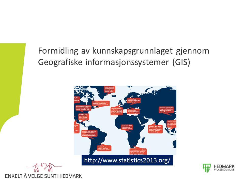 Formidling av kunnskapsgrunnlaget gjennom Geografiske informasjonssystemer (GIS) http://www.statistics2013.org/