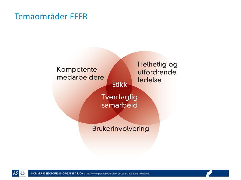 Evaluering av FFFR ved NIBR Strategisk kompetanseplanlegging – hva er gjort – SWOT-analyser – Analysert kapasitet og kompetansebehov – Utviklet kompetanseplan Fornøyd med deltakelse i nettverk og veiledning fra KS Midler til kommunene = såkorn – «ti-folds igjen»… Kommunenes ønskeliste for styrket kompetanse i fremtiden: Tverrfaglig arbeid Sykepleiekompetanse Ledelse