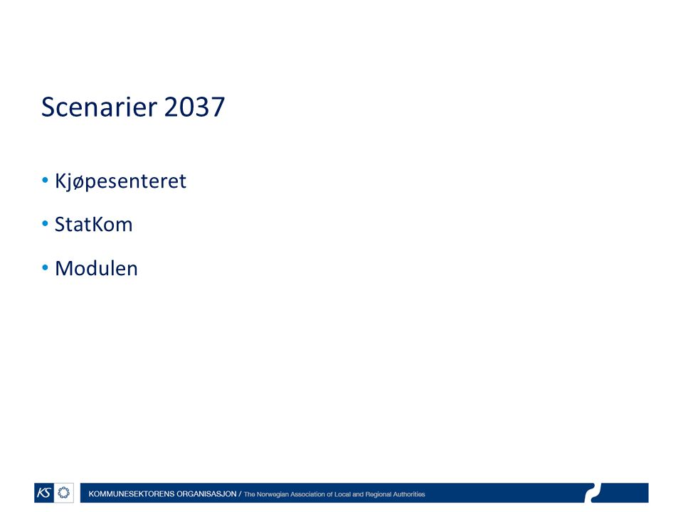 Scenarier 2037 Kjøpesenteret StatKom Modulen