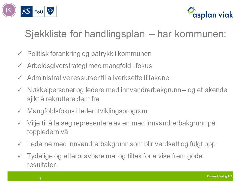 Kulturell Dialog A/S 9 Anbefalinger til arbeidstaker Sett deg inn i norsk samfunns- og arbeidslivskultur.