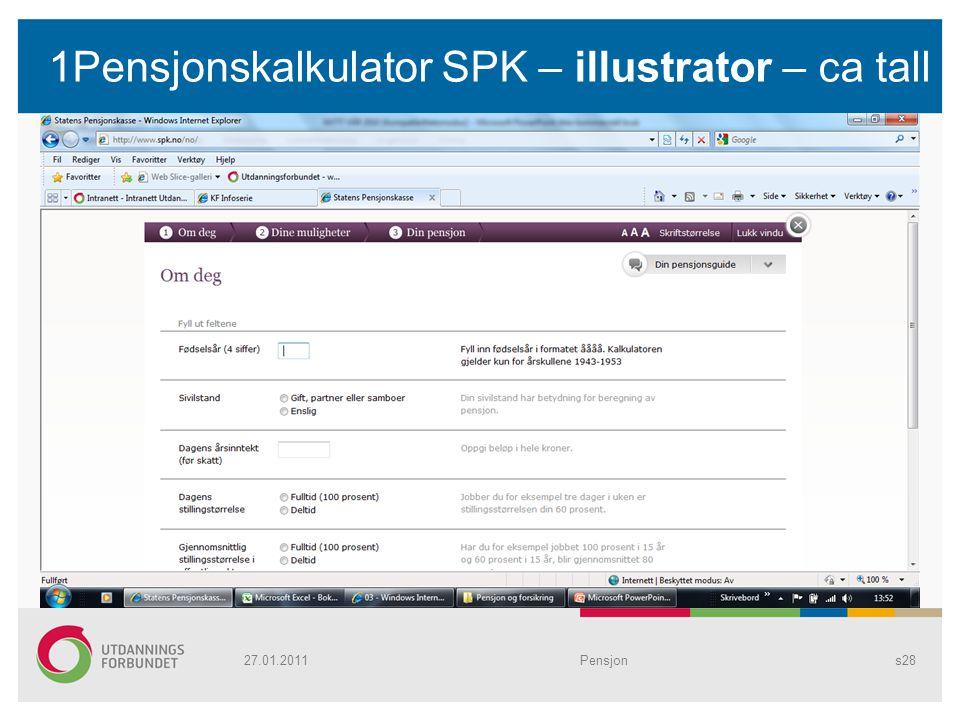 1Pensjonskalkulator SPK – illustrator – ca tall Pensjons2827.01.2011