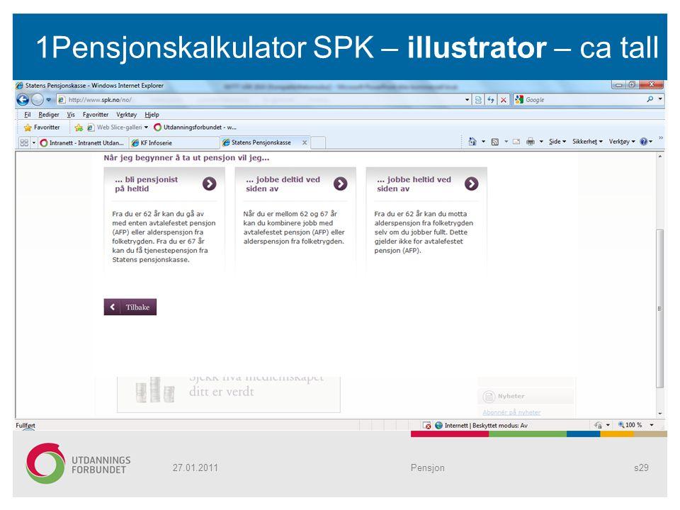 1Pensjonskalkulator SPK – illustrator – ca tall Pensjons2927.01.2011
