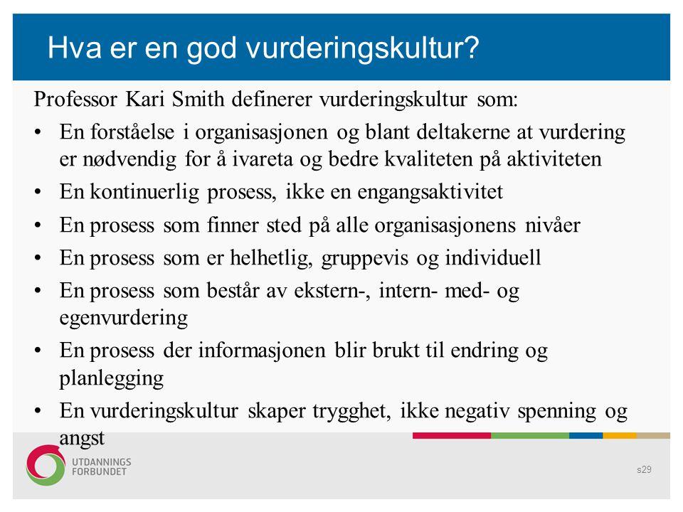 Forslag til diskusjon s28 Problematisering av praksis: 1.Hva kjennetegner god vurderingspraksis.