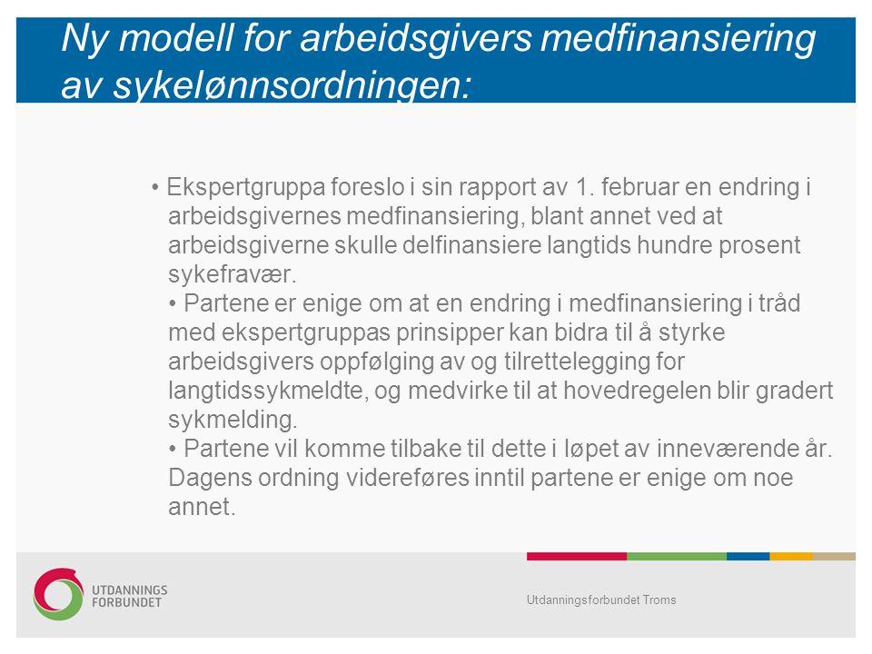 Ny modell for arbeidsgivers medfinansiering av sykelønnsordningen: Ekspertgruppa foreslo i sin rapport av 1.