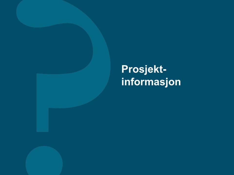 Prosjekt- informasjon