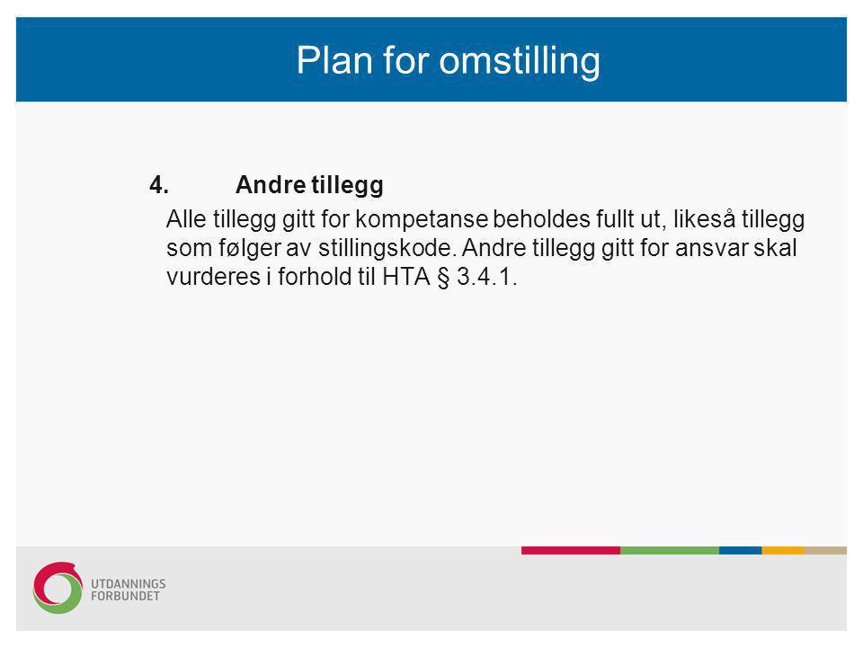 Plan for omstilling 4.