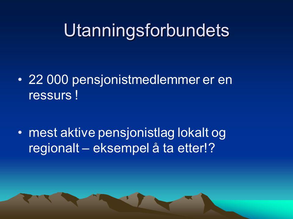 Utanningsforbundets 22 000 pensjonistmedlemmer er en ressurs .