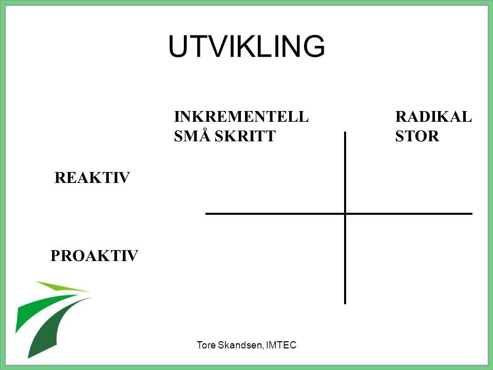 Tore Skandsen, IMTEC Stadium 6: Fornyelse Vi kan nå se mer avslappet på hele prosjektet.
