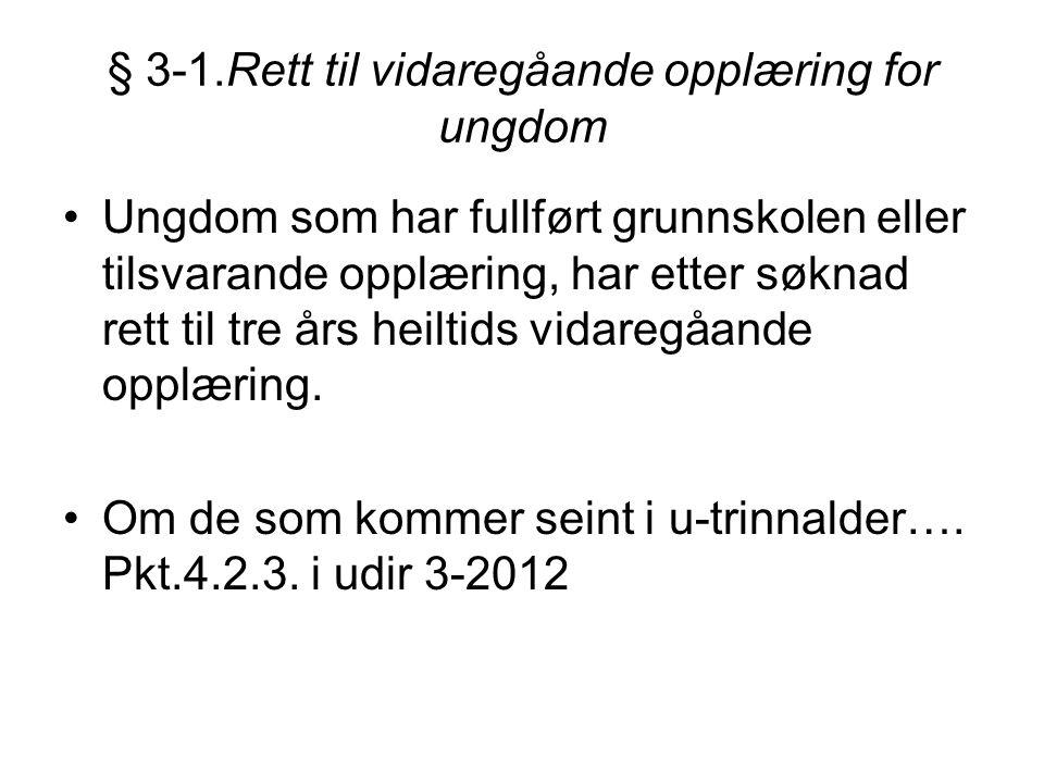 Særlig om ungdom som kommer til Norge siste del av 10.