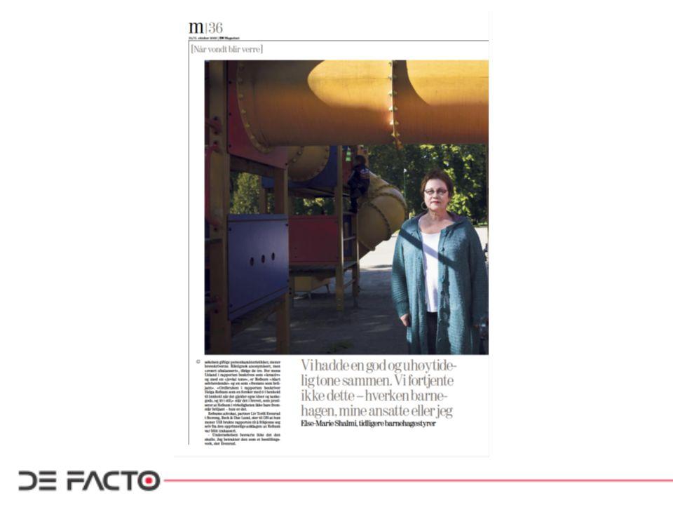 Eksempel: Sammenheng mellom omstillinger og arbeidsmiljø: –TV2 Nyhetsinnslag