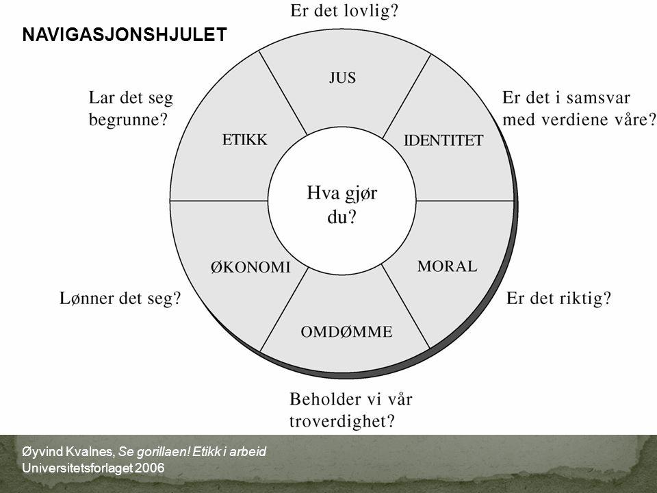 Øyvind Kvalnes, Se gorillaen! Etikk i arbeid Universitetsforlaget 2006 NAVIGASJONSHJULET