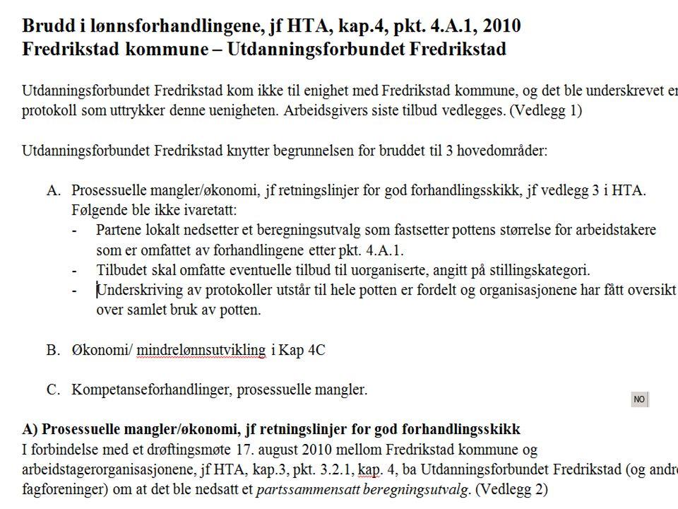 Tariffsak, årsmøte 2012 – innstilling til vedtak s29