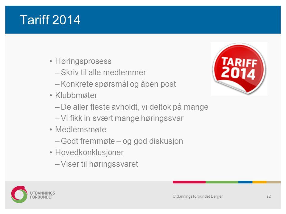 Tariff 2014 Aktuelle tema: –Lønn Nytt lønnssystem.