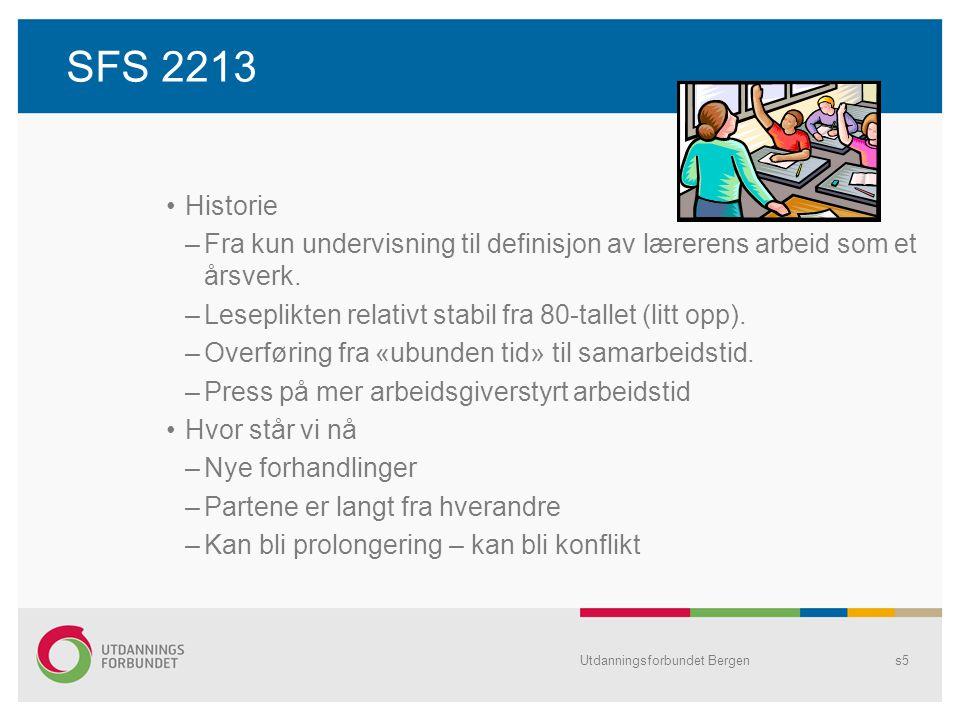 SFS 2213 Historie –Fra kun undervisning til definisjon av lærerens arbeid som et årsverk.