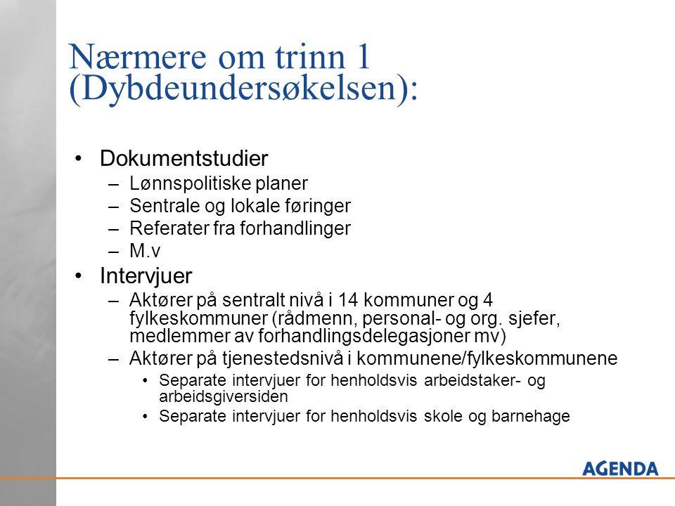 2Forberedende møter - Beskrivelse (forts.) Hvilke kriterier ble brukt.