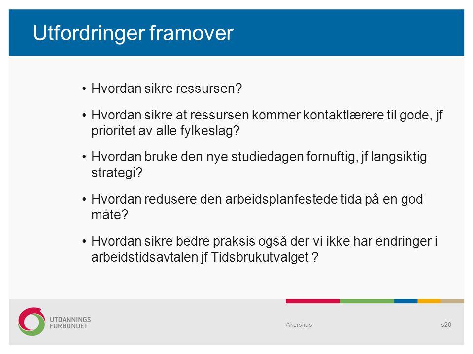Utfordringer framover Hvordan sikre ressursen? Hvordan sikre at ressursen kommer kontaktlærere til gode, jf prioritet av alle fylkeslag? Hvordan bruke
