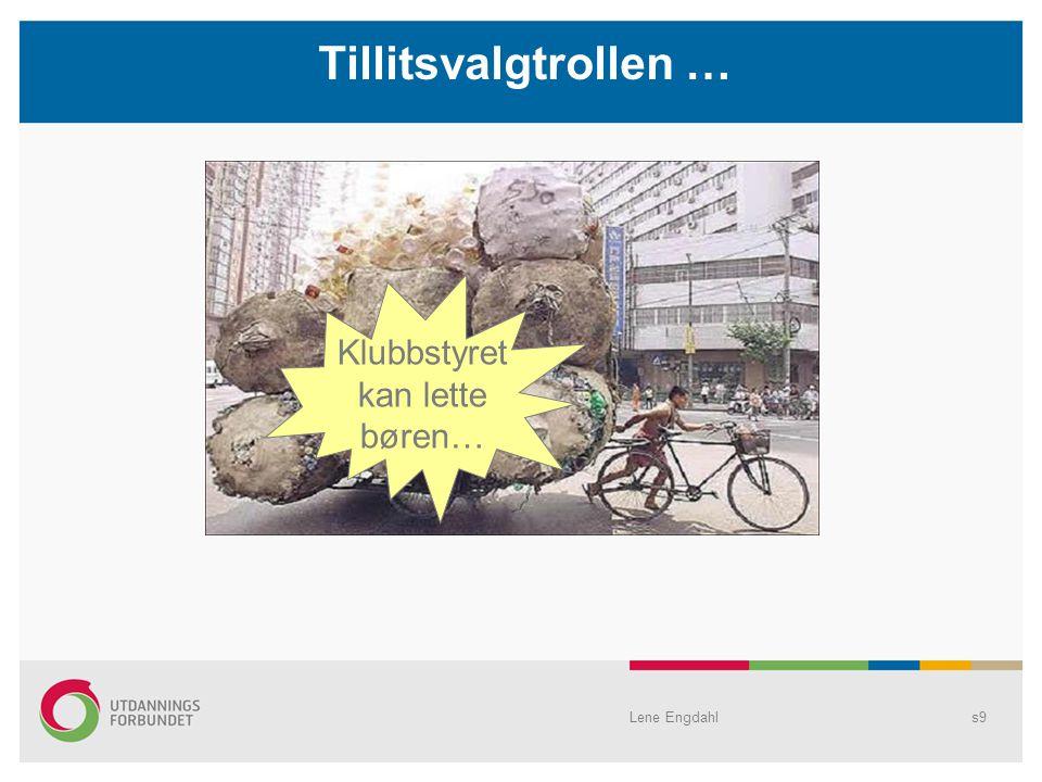 s9 Tillitsvalgtrollen … Klubbstyret kan lette børen… Lene Engdahl