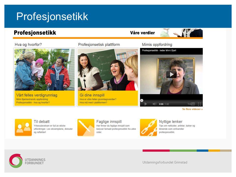 Profesjonsetikk Utdanningsforbundet Grimstad