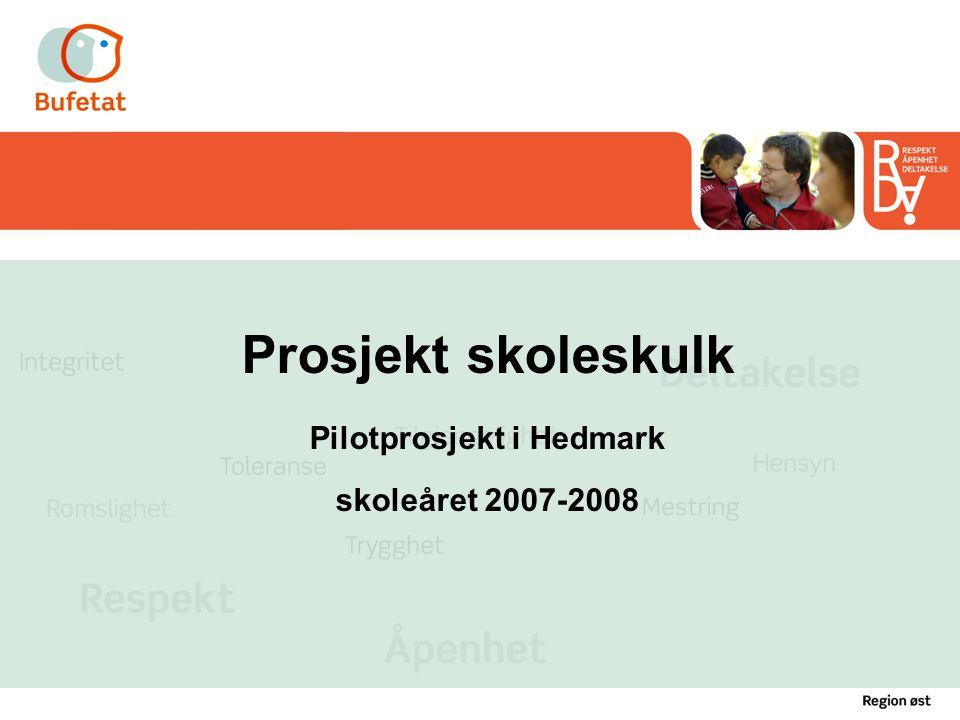 Prosjekt skoleskulk Pilotprosjekt i Hedmark skoleåret 2007-2008