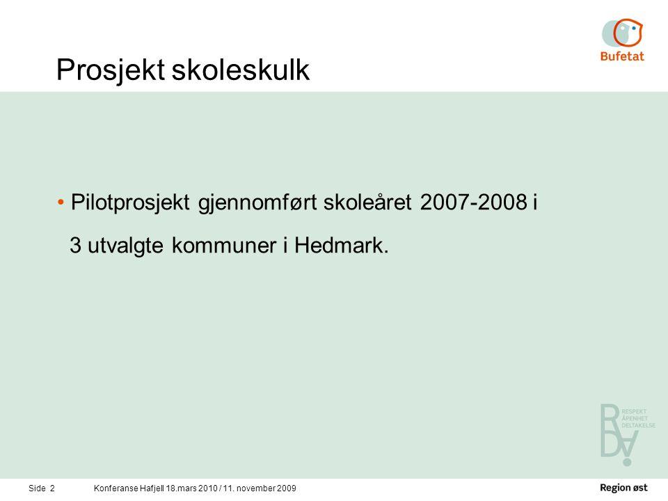 Side 2Konferanse Hafjell 18.mars 2010 / 11.